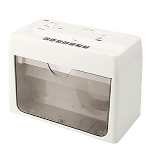 [PSD-35] 紙/CD/DVD/クレジットカードを裁断できるクロスカット方式のシュレッダー(グレー)。価格は12,390円(税込)