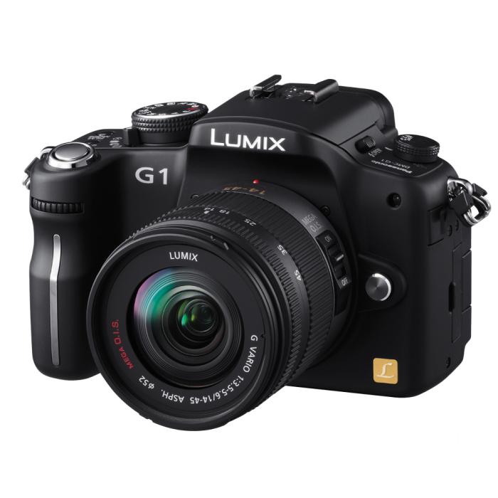 [DMC-G1] マイクロフォーサーズ規格を採用したデジタル一眼カメラ(ブラック)。ボディ単体の市場想定価格は80,000円前後