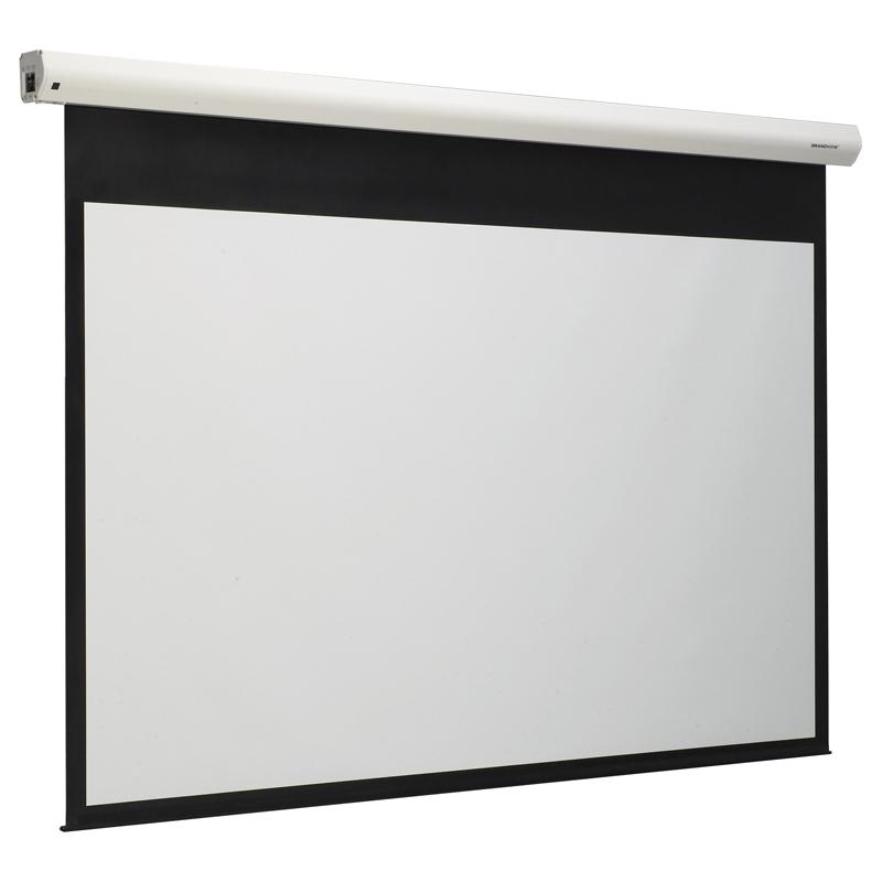 [GEAシリーズ] 赤外線ワイヤレスリモコンを備えた電動プロジェクタスクリーン。価格は134,400〜344,400円(税込)