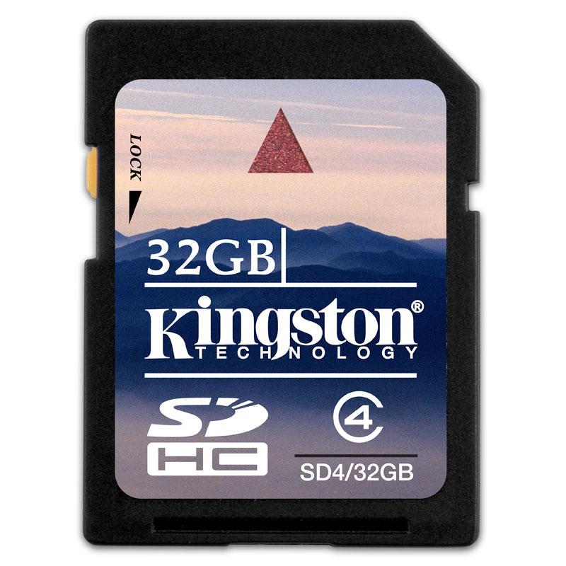 [SD4/32GB] SDスピードクラス「Class4」に対応したSDHCカード(32GB)。市場想定価格は32,600円