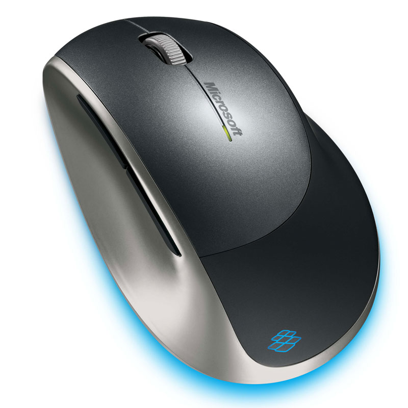 [Microsoft Explorer Mouse] BlueTrackテクノロジを搭載したフルサイズワイヤレスマウス。本体価格は9,000円
