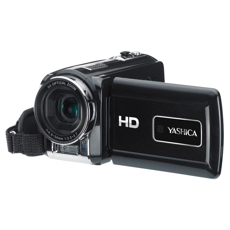 [YASHICA DV588] 503万画素CMOS/光学5倍ズームレンズ/HDMI端子を備えたハイビジョンビデオカメラ。市場想定価格は24,800円前後