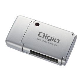 [CRW-SD35SL] SD/SDHCシリーズ用のUSB2.0カードリーダー/ライター (シルバー)。価格はオープン