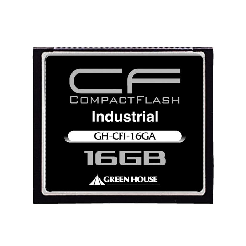 [GH-CFI-16GA] マイナス40〜85度の広い動作環境温度を保証した産業用途向けコンパクトフラッシュ(16GB)。価格はオープン