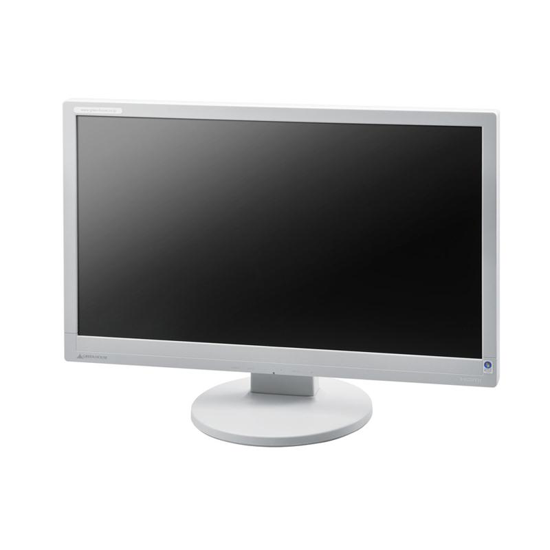 [GH-ACJ223SHW] 輝度300カンデラ/応答速度5ms/コントラスト比20000:1の21.5型WUXGA表示対応液晶ディスプレイ(ホワイト)。価格はオープン