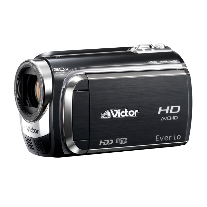 [GZ-HD320] 重量325gの軽量コンパクトボディを採用したフルHD対応HDDビデオカメラ(120GB)。価格はオープン