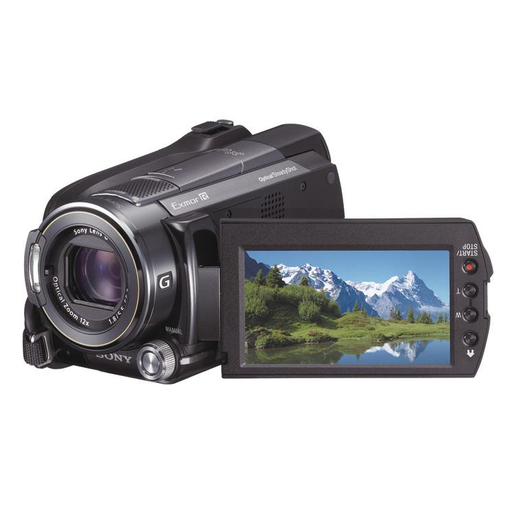 [HDR-XR520V] Exmor R/光学式手ブレ補正機能/GPS機能などを搭載するHDDフルハイビジョンビデオカメラ(240GB)。市場想定価格は150,000円前後