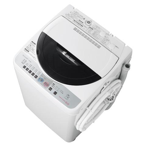 [Ag+イオンコート ES-FG60J] 穴なし槽やAg+イオンコートを備えた送風乾燥機能付き全自動洗濯機(洗濯6.0kg)。価格はオープン