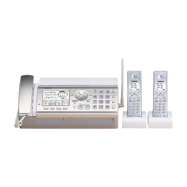 [FAX-380DW] 3.8型ピュアホワイト液晶/かんたん操作ガイド/知らせるセンサーを備えた家庭用FAX(子機2台)。価格はオープン