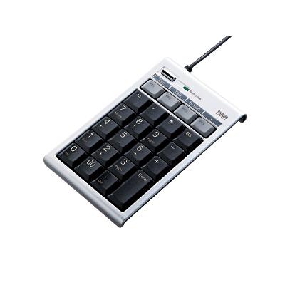 [NT-12UH2SV] 4つのPFキーや2基のUSB2.0対応ハブを備えたプログラマブルテンキーボード。価格は5,019円(税込)
