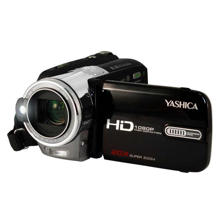 [YASHICA ADV-596HD] 500万画素CMOSを備えたハイビジョンビデオカメラ。市場想定価格は39,800円