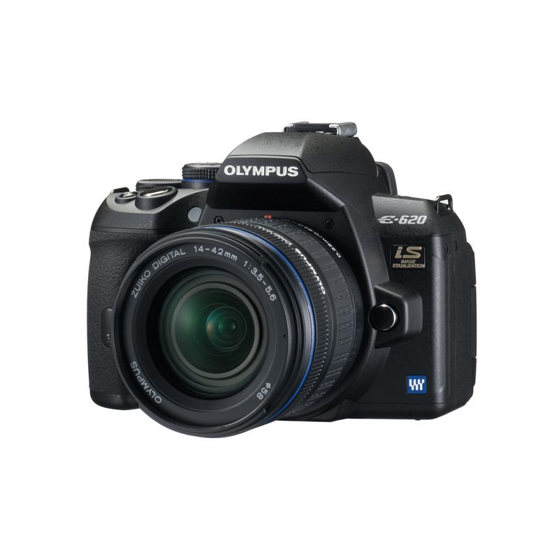 [E-620] 重量約475g小型軽量コンパクトボディに有効画素数1230万画素のハイスピードLive MOSセンサーやボディー内手ぶれ補正機構を搭載したデジタル一眼レフカメラ。価格はオープン
