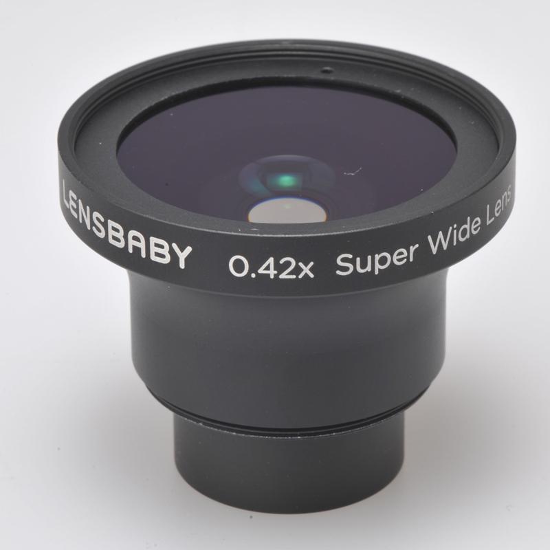 [レンズベビー×0.42スーパーワイドレンズ] レンズベビー各機種で使用できる0.42倍ワイドコンバージョンレンズ