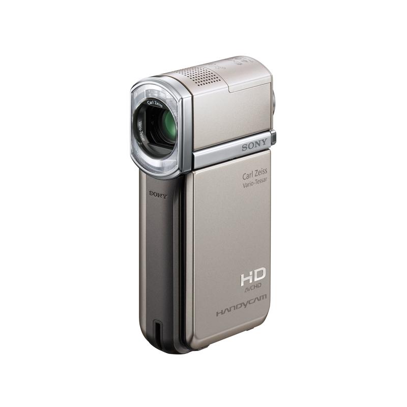 [HDR-TG5V] 重量約230gの軽量スリムボディを採用したフルハイビジョンハンディカム。市場想定価格は120,000円前後