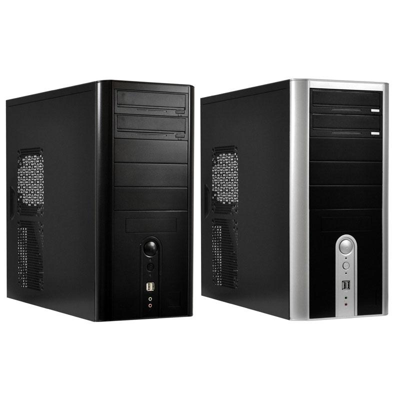 [CS-0115BS/500W] 4+4ピン12V電源コネクターを備えた500W電源搭載ATXケース(ブラック)。市場想定価格は10,000円前後
