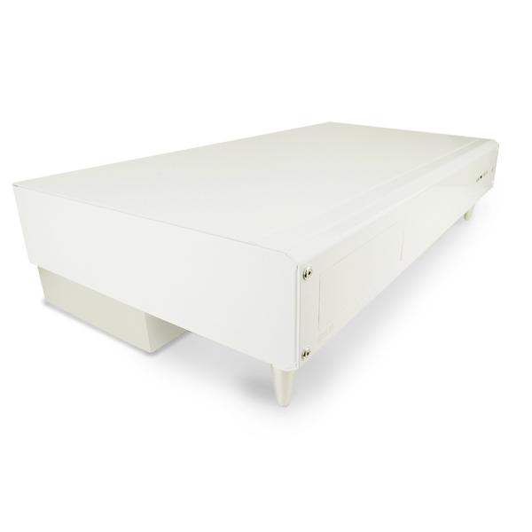 [smart SC120D-PW] 339mmのコンパクトボディが特徴のMicro-ATXとMini-ITX対応デスクトップ型PCケース(ピアノホワイト)。直販価格は21,980円(税込)