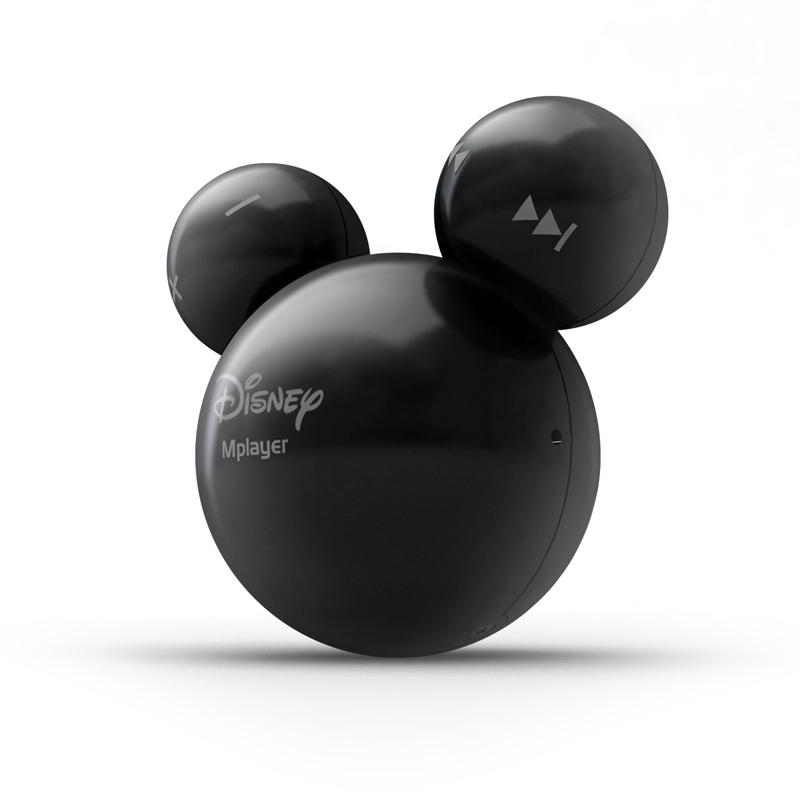 [Mplayer+ ブラック] MP3形式とWMA形式をサポートしたミッキーマウス型ポータブルオーディオプレーヤー(ブラック/2GB)。直販価格は5,980円(税込)