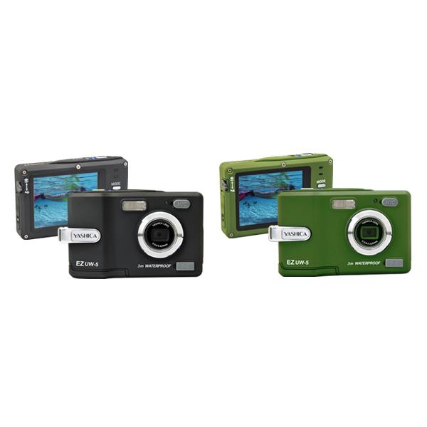[EZ UW-5] 水深3mまでの防水性能/3.0型液晶モニター/デジタル8倍ズームなどを備えたデジタルカメラ(503万画素)。市場想定価格は14,800円前後