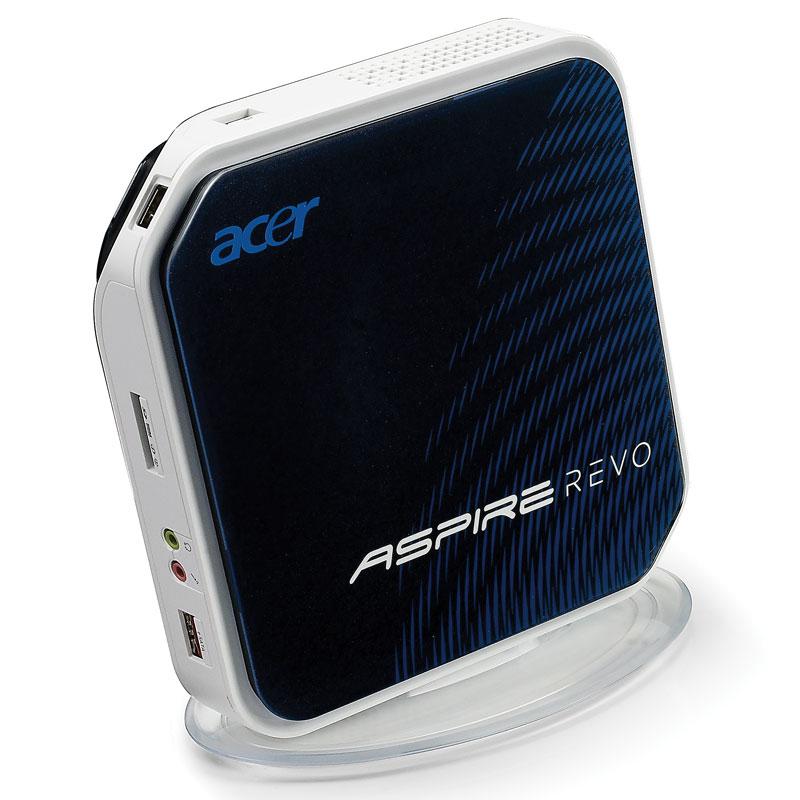 [AspireRevo] Atom 230やNVIDIAのビデオチップIONを搭載した小型デスクトップPC。市場想定価格は40,000〜60,000円前後