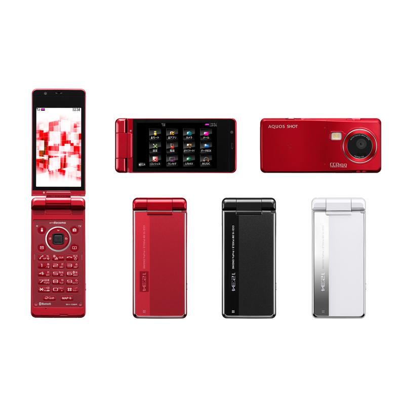 [docomo PRIME series SH-06A] 高輝度LEDフラッシュ/搭載画像処理エンジン「ProPix」/1000万画素CCDなどのカメラ機能を搭載した折りたたみ式携帯電話(docomo PRIME series)