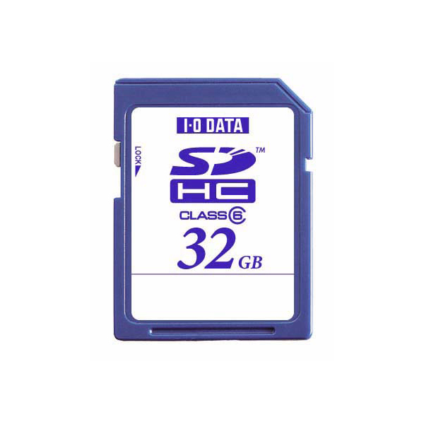[SDH-S32G] SDスピードクラス「Class6」に対応したSDHCメモリーカード(32GB)。価格はオープン