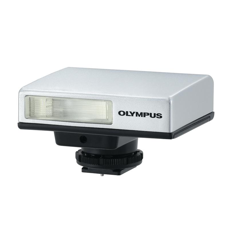 [エレクトロニックフラッシュ FL-14] 35mm判換算で28mm相当の広角を確保したGN20(ISO200)相当の外部フラッシュ。価格は21,000円(税込)