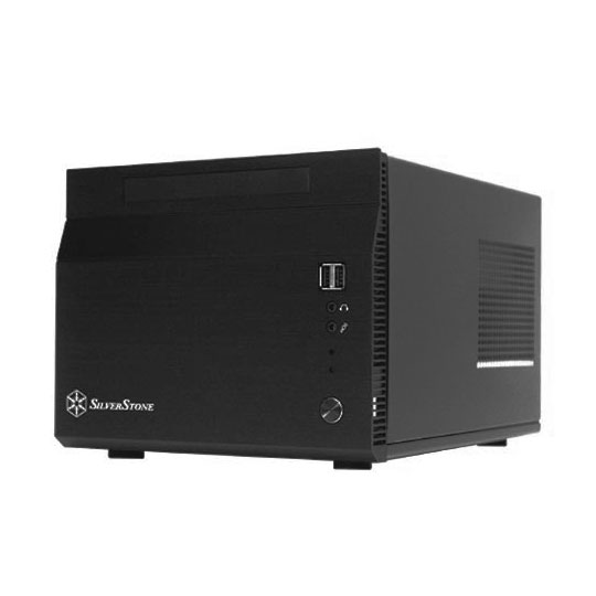 [SST-SG06B] 300Wの静音SFX内蔵電源搭載Mini-ITXケース(ブラック)