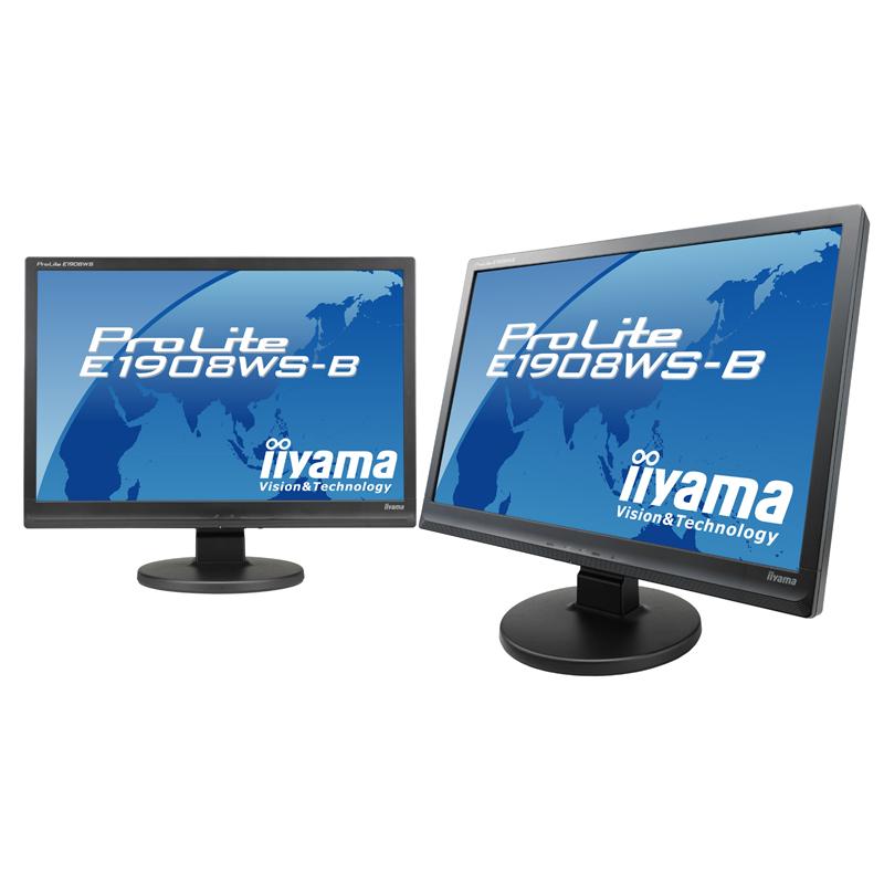 [ProLite E1908WS-B] 3パターンのEcoモードを搭載したWSXGA+対応19型ワイド液晶ディスプレイ。直販価格は19,800円(税込)