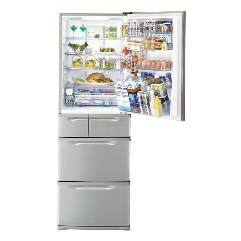 [置けちゃうスリム GR-B41N] 従来機種に比べ省エネ性能を向上させたスリム設計の5ドア冷蔵庫(405L)。市場想定価格は15万円前後