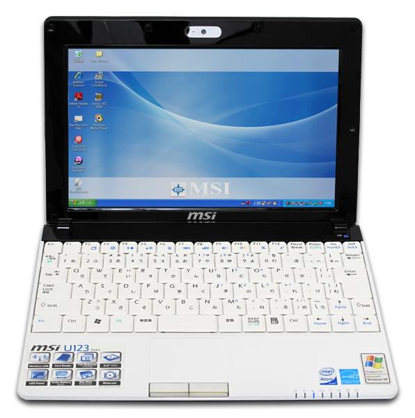 [U123] Atom N280/1GBメモリー/160GB HDD/Draft2.0 IEEE802.11n対応無線LAN/顔識別機能などを備えた10型ノングレア液晶搭載Netbook(パールホワイト)。市場想定価格は42,800円前後