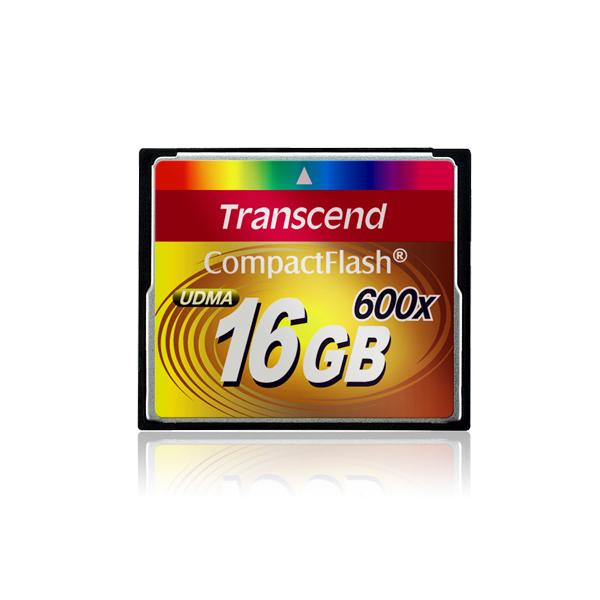 [TS16GCF600] リード毎秒最大92MB/ライト毎秒最大87MBの高速転送を実現したコンパクトフラッシュカード(16GB)
