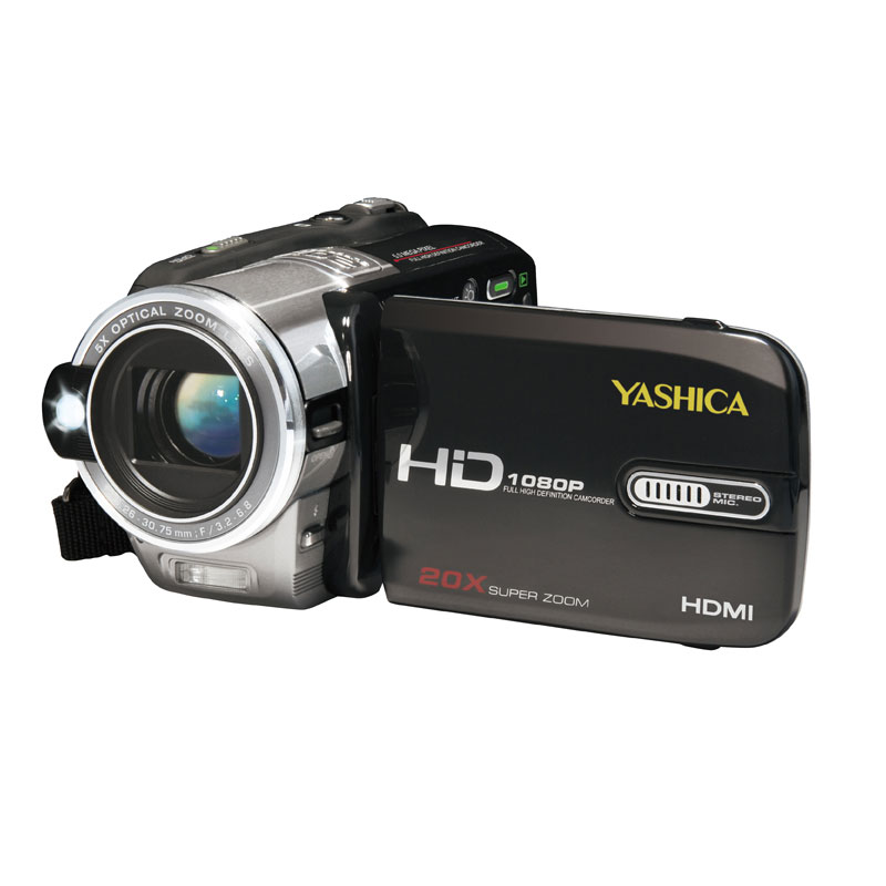 [YASHICA ADV-598HD] 1080pフルハイビジョン動画撮影が可能なハイビジョンビデオカメラ。市場想定価格は39,800円前後