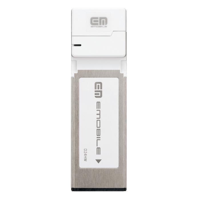 [D24HW] HSUPAに対応したExpressCard/34タイプのデータ通信端末。ベーシック料金プランの価格は38,980円(税込)