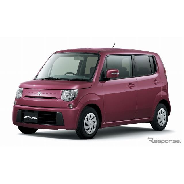 スズキは、軽乗用車『MRワゴン』をベースに、軽ワゴントップクラスの低燃費、27.2km/リットル(JC08モード...