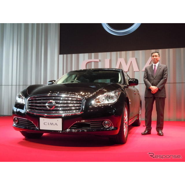 日産自動車の西川廣人副社長は25日発表した新型『シーマ』について、「日産がフルラインで勝負するという決...