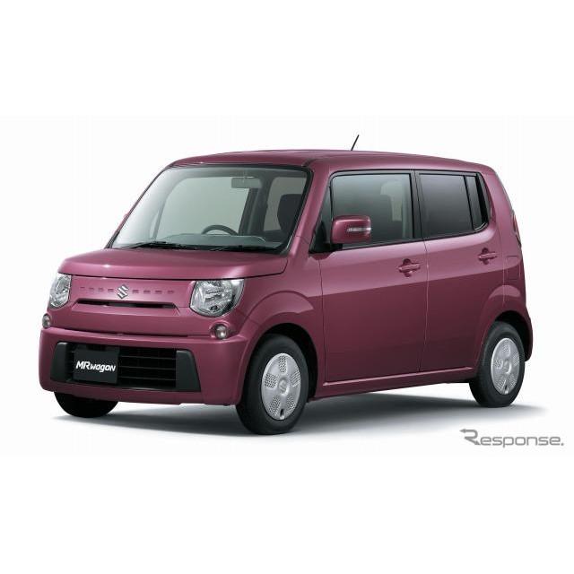 スズキは、軽乗用車『MRワゴン』と『アルトラパン』の2WD・NAエンジン搭載車の燃費を改善し、環境対応車普...