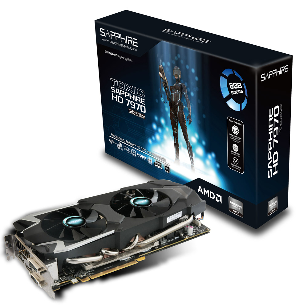 TOXIC HD7970 GHZ EDITION 6G GDDR5 PCI-E DL-DVI-I+SL-DVI-D / HDMI / DUAL MINI DP