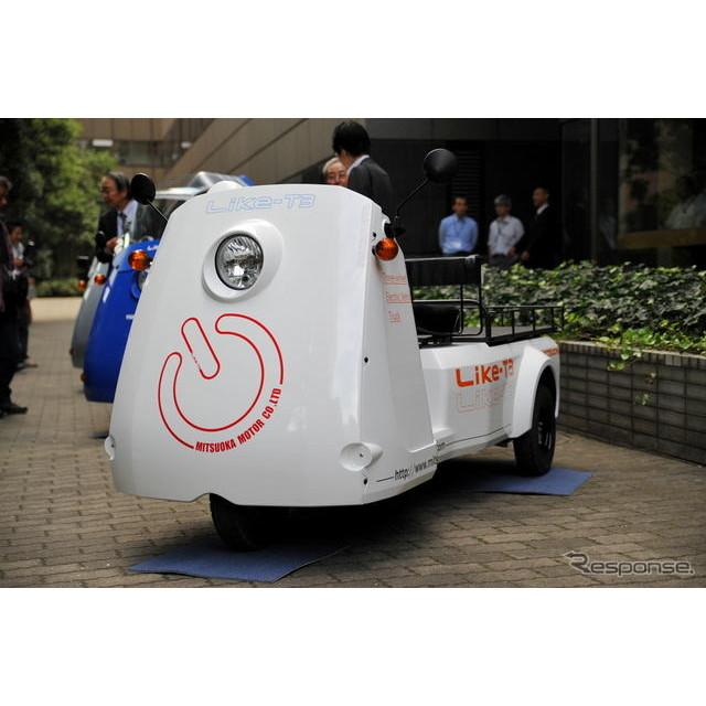 光岡自動車は、ユアサ M&Bと共同開発したオリジナル3輪電気自動車『雷駆(ライク)-T3』を10月18日より発売...