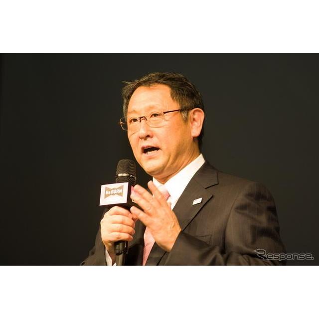 トヨタ クラウン 発表会での豊田章男社長