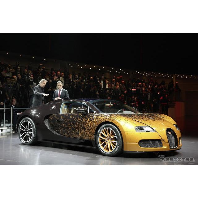 フランスの高級スポーツカーメーカー、ブガッティは3月5日、スイスで開幕したジュネーブモーターショー13に...