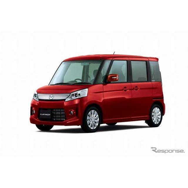 マツダは、軽自動車『フレアワゴン』の新機種「カスタムスタイル」を7月18日より発売する。  カスタムス...