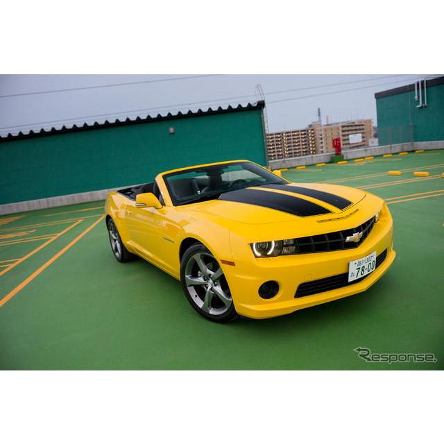 シボレーの2ドアオープンモデル『カマロ コンバーチブル』。国内導入モデルはV6エンジンと6速ATの組み合わ...
