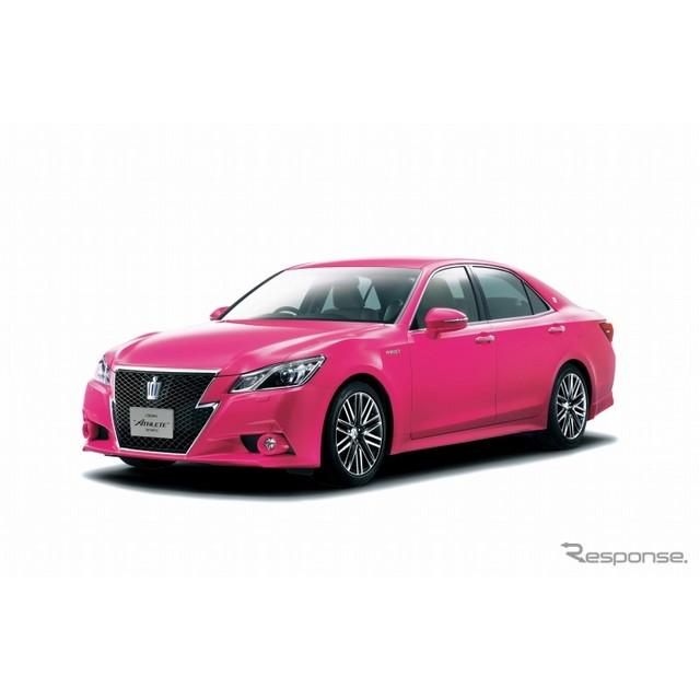 """トヨタ自動車は、『クラウン』に特別仕様車「アスリートG""""ReBORN PINK""""」を設定し、9月1日から30日までの..."""