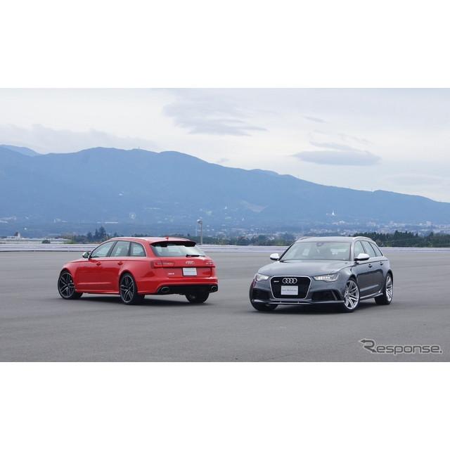 アウディは新型RSモデル『RS6 アバント』を発売した。  最高出力560ps、最大トルク700Nmを発揮する4.0リ...