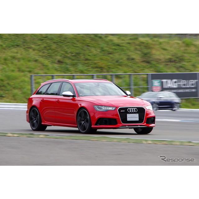10月19日、富士スピードウェイのショートコースにおいて、先頃登場したアウディ『RS6 アバント』の試乗会が...