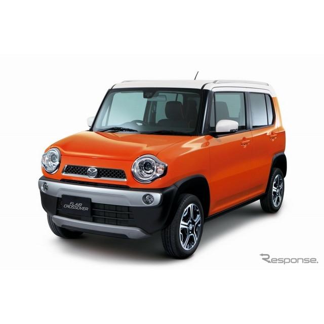 マツダは、SUVタイプの軽自動車『フレアクロスオーバー』を2014年1月31日より発売する。本モデルはスズキ『...
