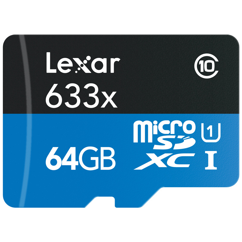 ハイパフォーマンス633倍速microSDカード