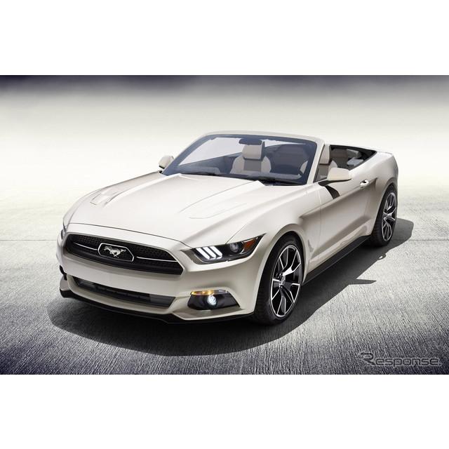 米国の自動車大手、フォードモーターは5月7日、新型フォード『マスタング コンバーチブル』のワンオフモデ...