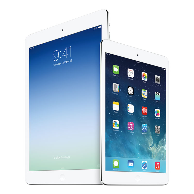 iPad Air、iPad mini Retinaディスプレイモデル