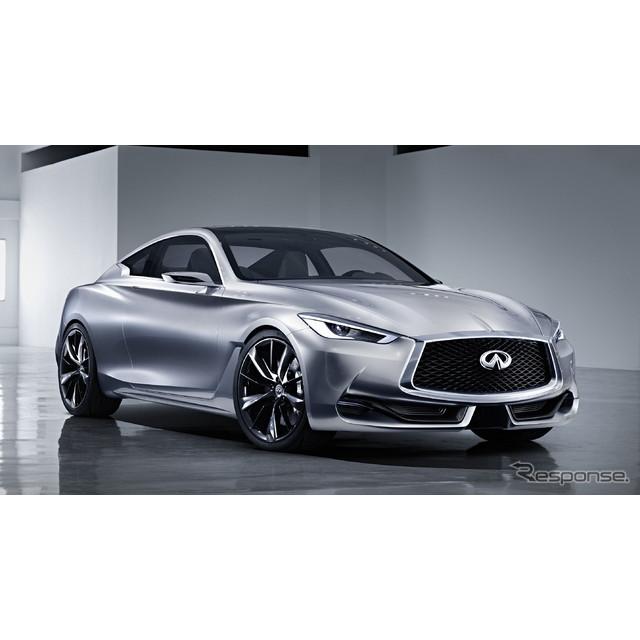 日産自動車の海外向け高級車ブランド、インフィニティは2015年1月5日、『Q60コンセプト』の概要を明らかに...
